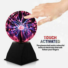 "8"" TOUCH ACTIVATED PLASMA STATIC MAGIC GLOBE LIGHT BALL SPHERE GLOWING LAMP"