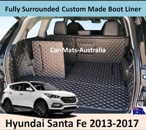 Hyundai Santa Fe 2013-2017 Custom Made Trunk Boot Mats Liner Cargo Mat Cover