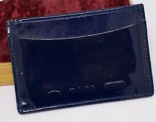 Tiffany & Co. Dark Blue Patent Leather Card Holder Case - Used