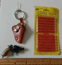 Vintage Mini Toy Gun + Holster Key Chain
