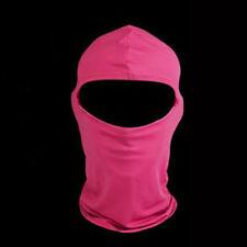 Solid Dusty Rose Pink Polyester Microfiber  Balaclava Ninja Swat Face Mask Biker
