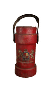 Antique Military Navy Cordite Carrier with Royal Coat Of Arms