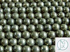 Pyrite Natural Gemstone Round Beads 8mm Jewellery Making (47-50 Beads)