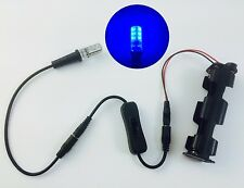 Blue LED prop & scenery effect light kit with cable switch battery holder EELB1
