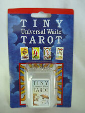 MINI Universal Tiny RIDER WAITE TAROT CARDS Set Deck w/ Plastic KEYCHAIN Case