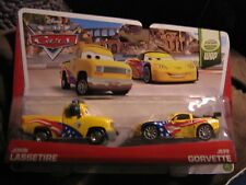 DISNEY PIXAR CARS WORLD GRAND PRIX SERIES 2 PACK JOHN LASSETIRE & JEFF GORVETTE