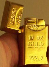 Superb Golden Butane Cigarette Lighter replica gold bullion new