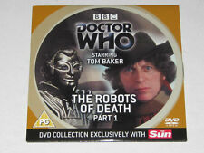 DOCTOR WHO. THE ROBOTS of DEATH. PART 1 EPISODE. DVD. BBC TV. TOM BAKER