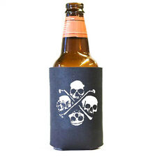 Four Skulls and Bones Pirate Beer and Pop Can Koozie Koolie Cooler Insulator