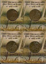 1995  WALTZING MATILDA DOLLARS  -  SET OF 4 MINT MARKS