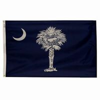 SOUTH CAROLINA Official Palmetto STATE FLAG 3x5 ft Outdoor Nylon Made in USA