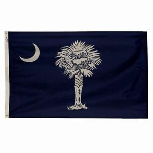 3x5 ft SOUTH CAROLINA Official Palmetto STATE FLAG Outdoor Nylon Made in USA