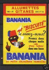 Etiquette Allumette France Banania 1