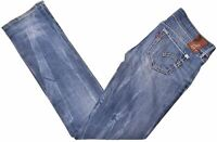 LEVI'S Womens Jeans W26 L32 Blue Cotton Straight Fit  DI08