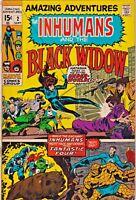 AMAZING ADVENTURES#2 GD 1970 THE INHUMANS MARVEL BRONZE AGE COMICS