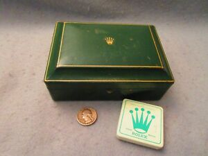 Vintage Original Swiss Rolex Lady s Date Adjust Green Empty Box