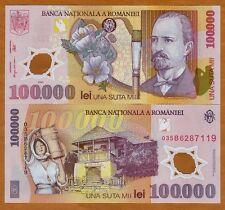 Romania, 100000 (100,000) Lei, 2001, POLYMER, P-114, UNC