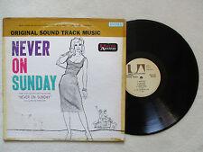 """LP 33T MANOS HADJIDAKIS """"Never on sunday"""" UNITED ARTISTS RECORDS UAS 5070 USA §"""