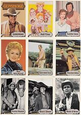 GUNSMOKE TELEVISION SHOW 1993  PACIFIC COMPLETE BASE CARD SET OF 110 TV NOT MINT