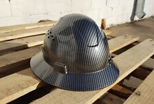 Carbon Fiber Hydro Print Full Brim Hard Hat Added Air Vents ANSI/ISEA Z89.1