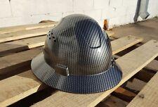 Carbon Fiber Print Full Brim Hard Hat Added Air Vents ANSI/ISEA Z89.1