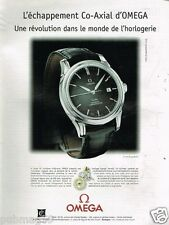 Publicité advertising 2001 Montre Omega Co-Axial Automatic Chronometer