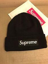 Supreme 2015 F/W Box Logo Era Winter Hat Beanie Black