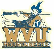 Vintage Decal    University of   WEST VIRGINIA  Mountaineers  College