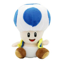 "Blue Toad Super Mario Bros Brigade Plush Toy Stuffed Animal Soft Figure Doll 6"""