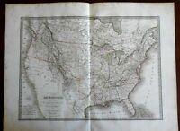 United States Missouri & Arkansaw Territory Oregon into BC 1829 Lapie folio map
