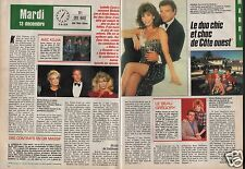 Coupure de presse Clipping 1988 Michele Lee & Kevin Dobson Côte Ouest (2 pages)