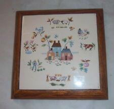 Vintage International China Heartland Square Trivet Wall Hanging VERY NICE