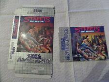 Sega Game Gear Streets of Rage Box and manual