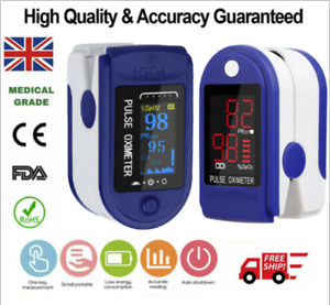 Pulse Oximeter Blood Oxygen Saturation SpO2 Meter Fingertip Oxymeter Universal