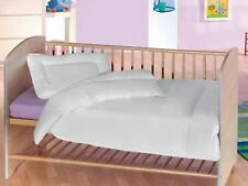 100 Cotton Quilted Duvet & Pillow 2 Piece Baby Filling Set Crib Cot Junior Bed 120 X 90 Cm