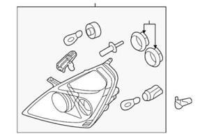 OEM NEW 2006-2014 Kia Sedona Base Driver Side Headlamp Light Assembly 921014D011