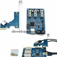 PCI-e Express 1X to 3 Port 1X Switch Multiplier UK Stock