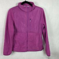 Joyce Womens Fleece Zip Up Jacket Purple Size Medium NWT