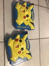 LOT OF 2 Nintendo / Rose Art 1999, Pokemon Pikachu Case WITH STICKERS