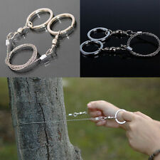 NEW HOT Stainless Steel Hiking Camping Wire Saw Exigent Travel Survival Gear