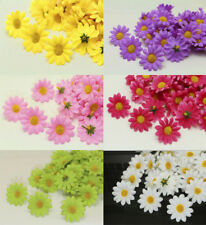 30/120PCS Gerbera Daisy Artificial Silk Flowers Head Wedding Party decoration