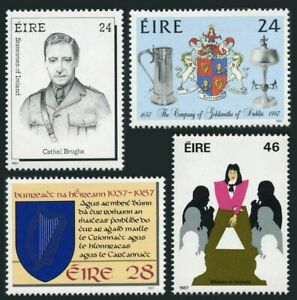 Ireland 699-700,MNH.Michel 633-636. Statesman 1987.Cathal Brugha,Harp in Shield,