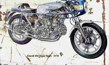 Ducati 900SS 1978 ghosted Aged Vintage SIGN A3 LARGE Retro
