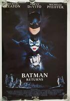 Vintage 1992 BATMAN RETURNS Lightbox One Sheet Movie Poster Keaton Pfeiffer