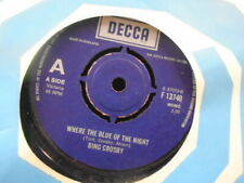 """BING CROSBY """"WHERE THE BLUE OF THE NIGHT/GOODNIGHT SWEETHEART"""" EX+COND.IN Or.SL."""
