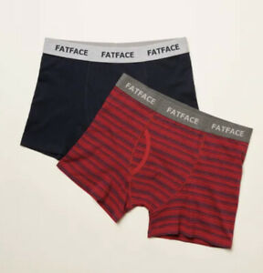 Fat Face 2 Pack Boxer Shorts - Compton Stripe - Size XL EXTRA LARGE
