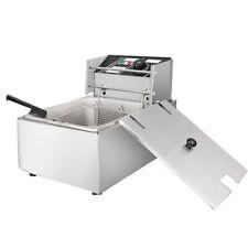 220V 6L Commercial Restaurant Stainless  Table Top Fry Basket Deep Fryer Oven