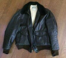 Vintage LL Bean Men's Brown Bomber Goatskin Shearling Lined Jacket