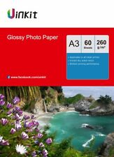A3 High Glossy Photo Paper Inkjet Paper 260Gsm Printer 420x297 - 60Sheets Uinkit