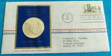 1973 Franklin Mint Colonial Communications Pamphleteer USA FDC Silver Medal Coin